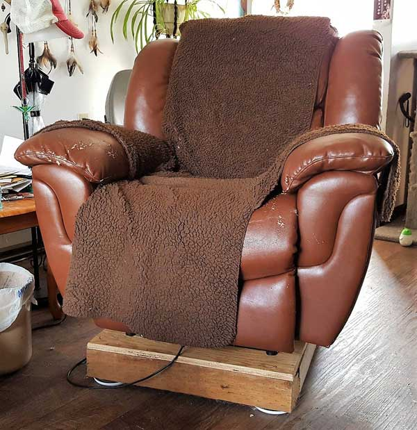 power recliner with a new base